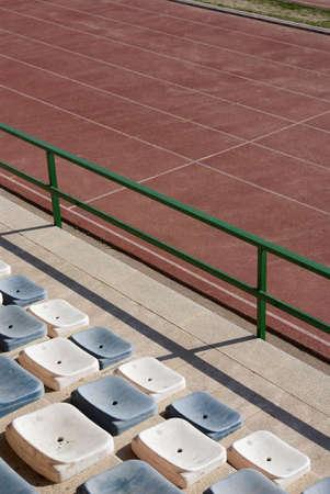 Athletics stadium Racetracks and seats