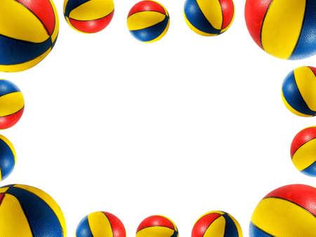A border ( frame ) made of beach balls Stock Photo