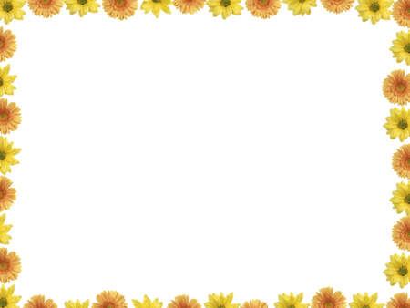 Beatiful border ( frame ) make of flowers photo