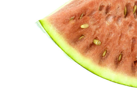 A fresh and sweet piece of watermelon isolated on white