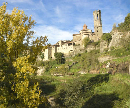 landscape at Rupit ( historical town at Catalonia ) Stock Photo