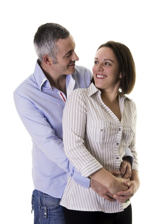 European couple on a white background Stock Photo - 18100963