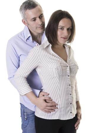 European couple on a white background Stock Photo - 18083450