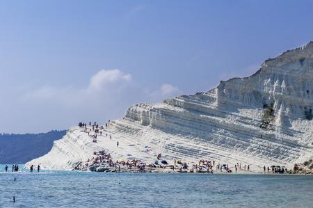 White beach in Scala dei Turchi - Italy