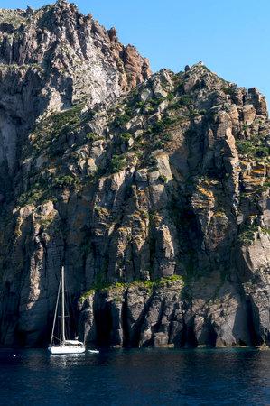 Aeolian Islands in Sicily, Italy.
