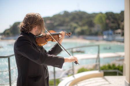 violins: Violins on the sea