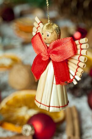Handmade christmas angel Stock Photo - 16209387
