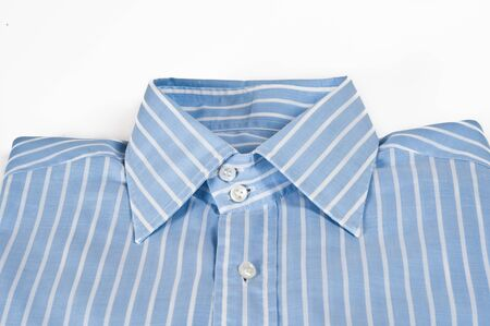 folded striped shirt for a man  photo
