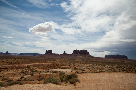 Driving on the road of Monument Valley, arizona, USA  photo