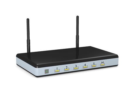 modem: Wireless modem router Stock Photo