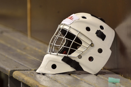Hockey helmet photo