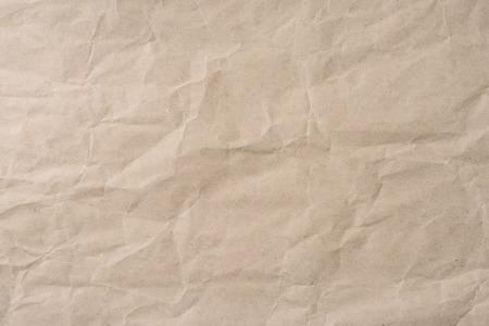 rumple: Background of blank brown wrinkled paper texture