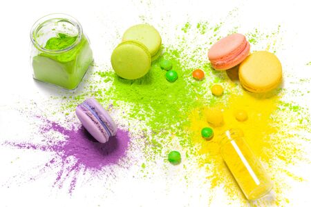 Set of objects related to food coloring