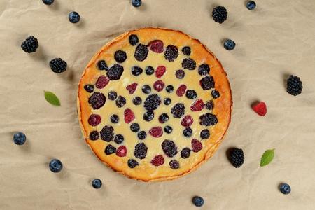 scattering: Tasty berry pie