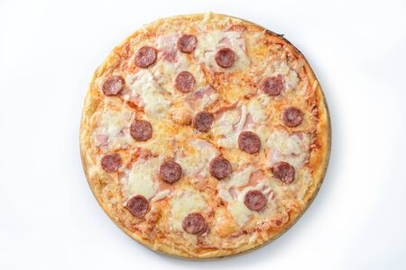 Meat and sausage pizza