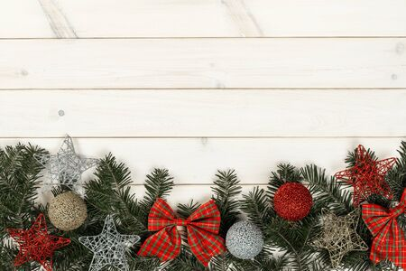 Background with Christmas decorations Stock Photo