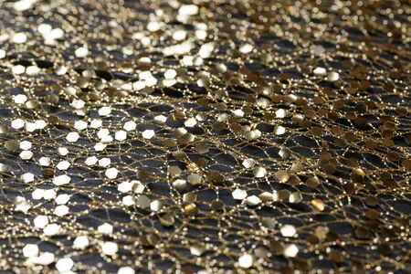 Golden background with glitters Stock Photo