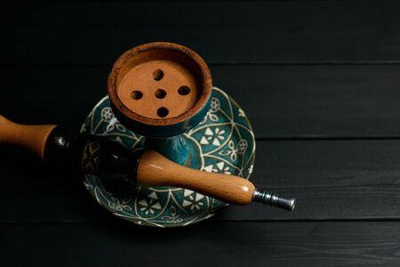 Antique hookah parts in dark