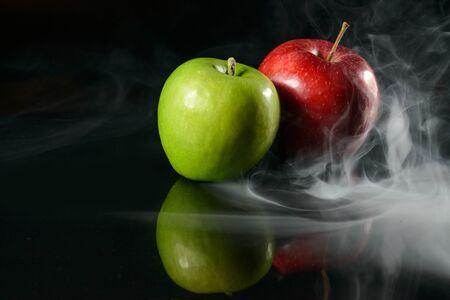 Apples in fragrant smoke