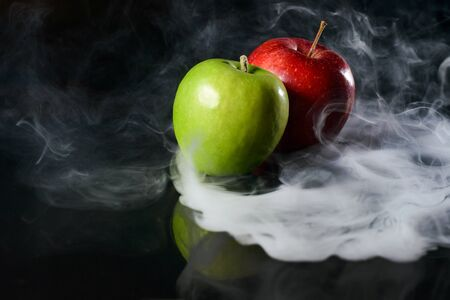 Apples in fragrant smoke Stock Photo - 137551007