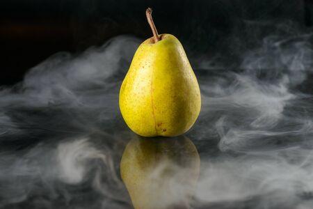 Pear in fragrant smoke