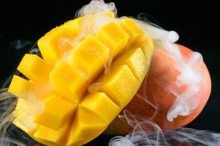 Ice cold mango Stock Photo