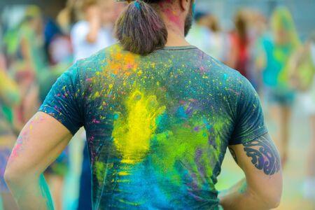 Holi paint at festival