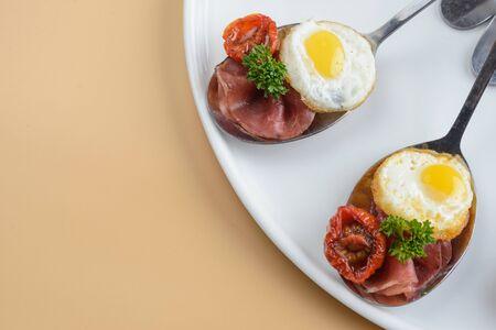 Prosciutto with scrambled eggs
