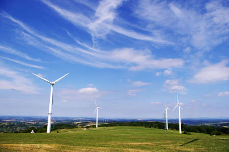 Wind energy farm. Green energy. Stock Photo - 7465576