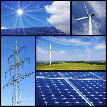 Clean & alternative energy collage Stock Photo - 10144240