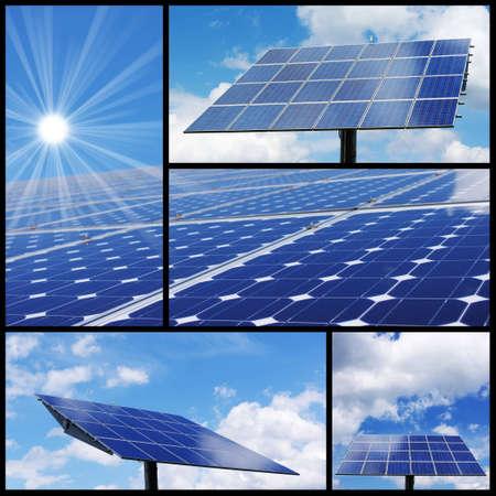 Solar energy collage: Alternative & green energy! photo