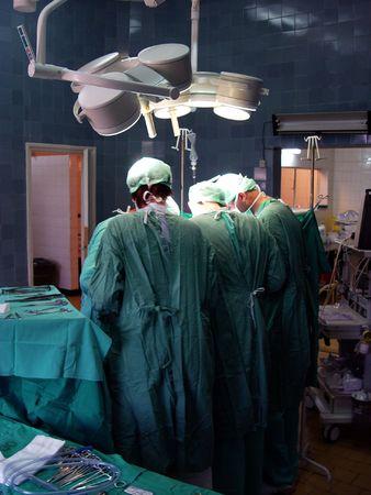 surgeron: operation in hospital