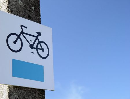 Bicycle allowed sign at the Beach photo