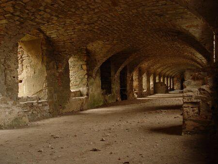 castle tunnel Stock Photo