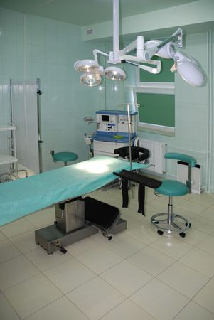 operating table: operation room