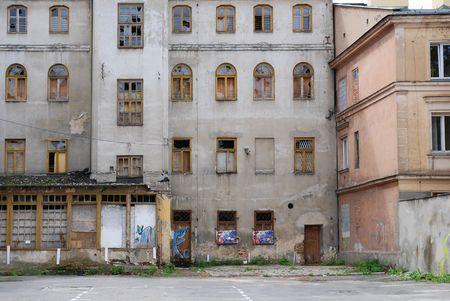 Binnenstad grunge flat gebouw