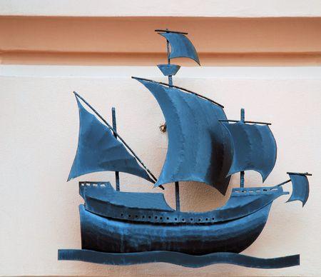 Steel ship photo