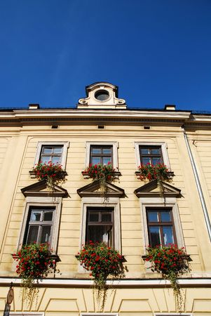 old home in Krakow, wall and window
