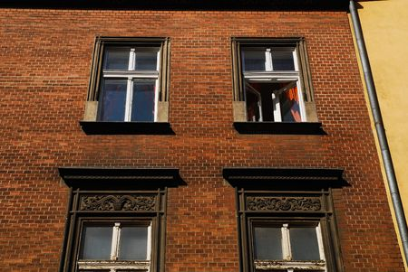 partment: old home in Krakow, old wall and window