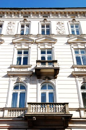 partment: old home in Krakow, window and balony