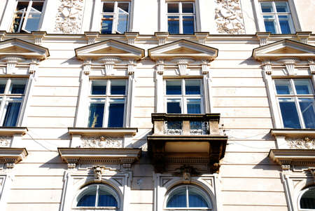 old home in Krakow, window and balony