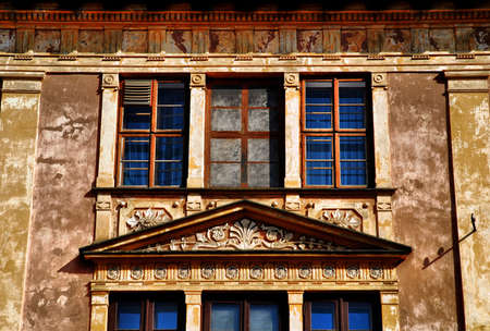 partment: old home in Krakow, wall and window