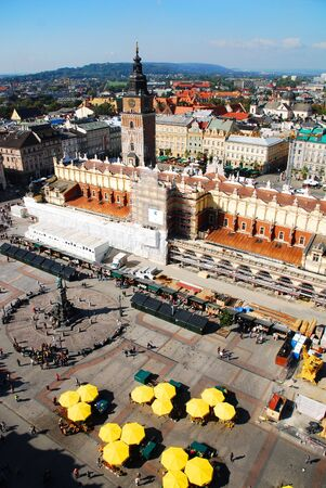 cracow: An aerial view of Sukiennice of Cracow, Poland. See more in my portfolio.