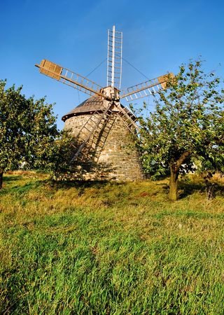 old wind - turbine in Poland countryside Stock Photo - 6543013