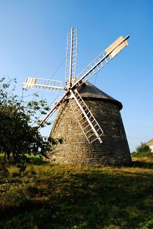 old wind - turbine in Poland countryside Stock Photo - 6530080