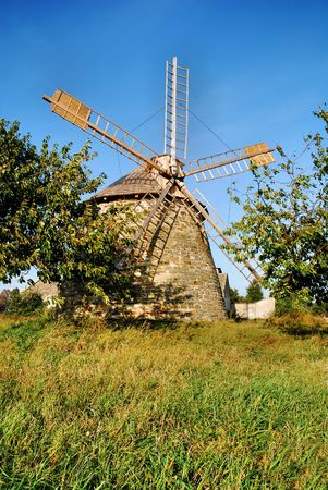 old wind - turbine in Poland countryside Stock Photo - 6542993