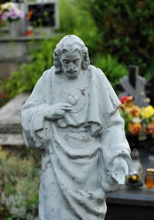 Old Statue of Jesus Christ  photo
