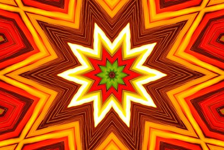 radiosity: Star burst red and yellow fire