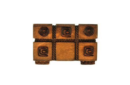 superannuated: treasure box isolated on white background