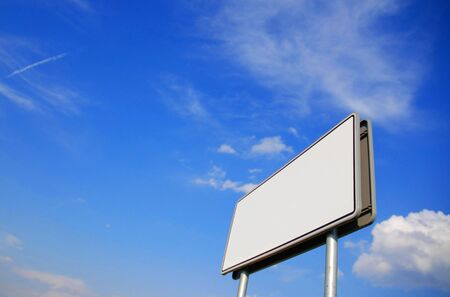 billboard on the blue sky